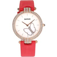 BARIHO Ladies Students Fashion Butterfly Quartz Watch Business Wristwatch