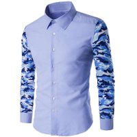 Brand New Mens Formal Business Shirts Stylish Mens Camouflage Military Camo Army Long Sleeve Casual Shirt Male Casual Slim Tops