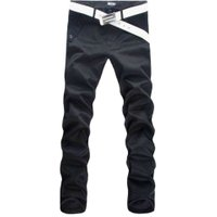 New Arrival Mens Casual Business Pant Stretch trousers regular Straight Pant Black Khaki Big Size Men's Clothing