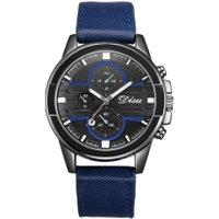 Quartz Watch Male Fashion Student Business Leather Band Men Watch