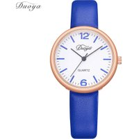 Simple Women Candy Color PU Band Wrist Watch for Girl Business Quartz Watch