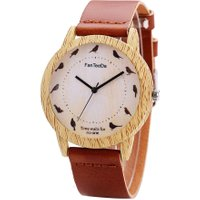 Women Fashion Quartz Wooden Business Genuine Wristwatch